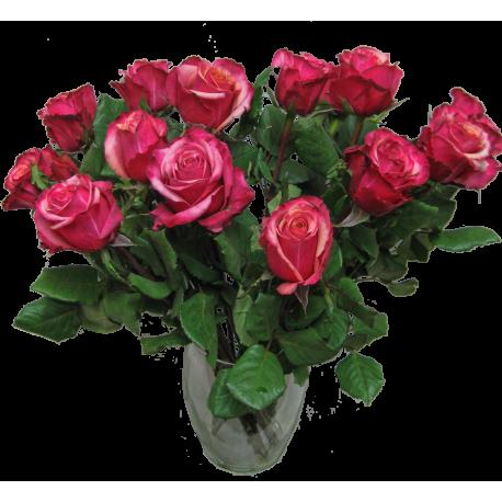Rosa-violetter Rosenstrauß ca. 50 cm Länge