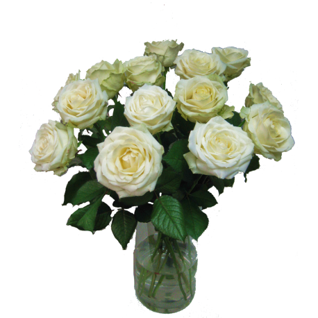 Weißer Rosenstrauß ca. 60 cm Länge