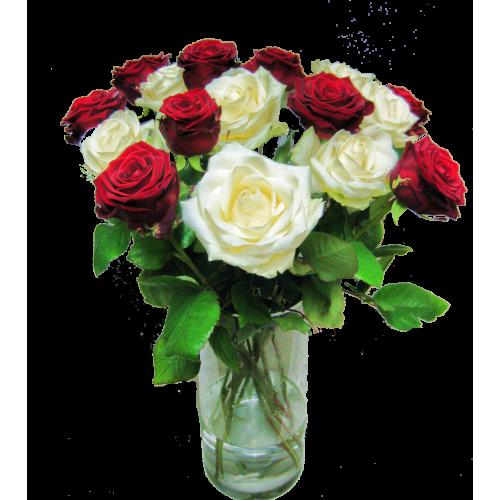 Lange Weisse Rosen ca. 60 cm Länge
